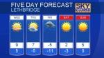 Lethbridge forecast November 13, 2018