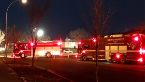 Firefighters responded to a gas leak in Mill Woods on Tuesday, November 13, 2018.