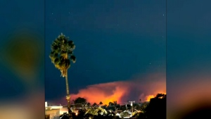 Timelapse show raging wildfires in Malibu