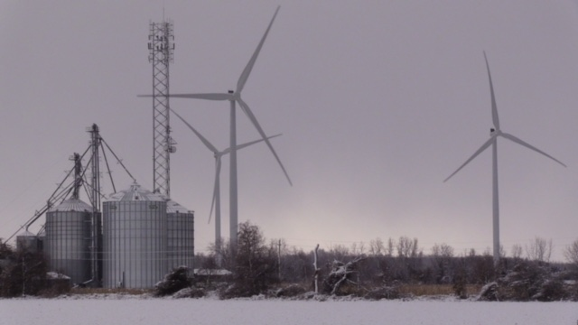 Wind turbines are seen in Huron County, Ont. on Wednesday, Nov. 14, 2018. (Scott Miller / CTV London)