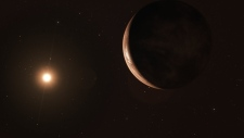 This image shows an artist's impression of the exoplanet Barnard's Star b viewed from space. Credit: ESO/M. Kornmesser