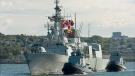 The alleged incidents involve two victims and are said to have taken place onboard HMCS Charlottetown over the course of one month last year while the ship was at sea. (THE CANADIAN PRESS/Andrew Vaughan)