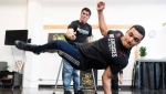 Samuel Henrique 'Samuka' de Silveira Lima of the ILL-Abilities breakdance crew rehearses as Luca 'Lazylegz' Patuelli looks on in Montreal on Wednesday, November 14, 2018. THE CANADIAN PRESS/Paul Chiasson