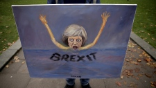 Painting depicts a sinking PM Theresa May