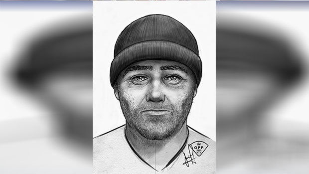 Barrie Police release this composite sketch of a sexual assault suspect on Thursday, Nov. 15, 2018 (Barrie Police/handout)