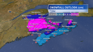 Here's the snowfall outlook for the Maritimes