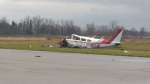 The Transportation Safety Board says it was snowing the night of the fatal plane crash in Brant County.