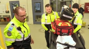 Sault Ste. Marie paramedics use the Movember campaign to rally around a colleague recently diagnosed with cancer. Lincoln Louttit reports.
