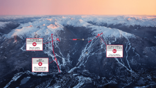 A map of the lift upgrades by Doppelmayr USA is shown in an image from the Whistler Blackcomb website.