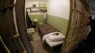 Shown is one of the cells that prisoners mounted a famous 1962 escape from, on Alcatraz Island Thursday, Nov. 15, 2018, in San Francisco.  (AP Photo/Eric Risberg)