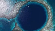 The Great Blue Hole is seen in Belize. (Supplied)