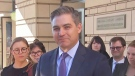 Jim Acosta thanks colleagues outside of court