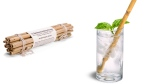This combination photo of product images released by Brush with Bamboo shows bamboo straws which serve as an alternative to plastic straws. (Brush with Bamboo via AP)