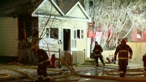 Crews battle North End blaze