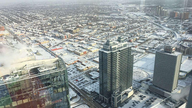 The view from the Stantec Tower, facing northeast.