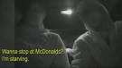 Caught on cam: Trio stops for McDonald's in bait c
