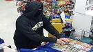 A male suspect allegedly robbed a Brantford variety store at knifepoint. (Source: Brantford Police Service)