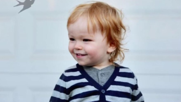 Jude Promoli is seen this family handout photo. Jude died at two in 2016 after a cardiac arrest caused by influenza B.