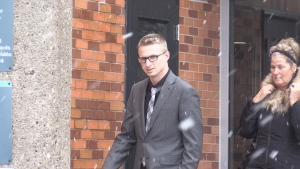 Ryan McPhail, 24, outside a Barrie, Ont. courthouse on Friday, November 16, 2018 (CTV News/Beatrice Vaisman)
