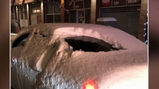 Driver fined for driving with snow-covered windows
