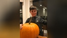 Eli Kearly sold about $2,300 worth of pumpkins in October. (Photo courtesy Lori Pollock)