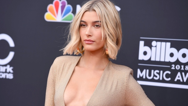 Hailey Baldwin arrives at the Billboard Music Awards at the MGM Grand Garden Arena on Sunday, May 20, 2018, in Las Vegas. (Photo by Jordan Strauss/Invision/AP)