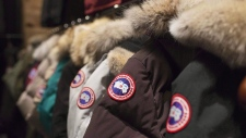 Jackets are on display at the Canada Goose Inc. showroom in Toronto on Thursday, November 28, 2013. Luxury jacket maker Canada Goose Holdings Inc. reported a net loss of $18.7 million in its first quarter as it pushed further into international markets.THE CANADIAN PRESS/Aaron Vincent Elkaim
