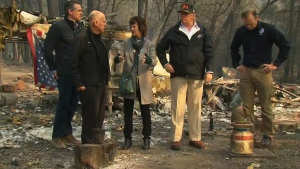 Trump tours wildfire damage across California