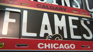 These novelty plates are all well and good, but the province has now released official Flames and Oilers licence plates for fans to buy to show their support.