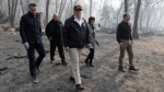 U.S. President Donald Trump tours Paradise, Calif., with Gov.-elect Gavin Newsom, California Gov. Jerry Brown, Paradise Mayor Jody Jones and FEMA Administrator Brock Long, right, during a visit to a neighborhood impacted by the wildfires, Saturday, Nov. 17, 2018, in Paradise, Calif. (AP Photo/Evan Vucci)