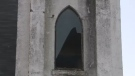 As each year passes the former Holy Sanctuary continues to deteriorate. More damage was discovered on Saturday as a window was blown out by strong winds.