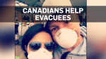 Canadians helping wildfire evacuees