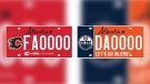 The specialty Edmonton Oilers and Calgary Flames plates will be available Nov. 19 for a price of $75. Courtesy Twitter / Oilers Foundation.