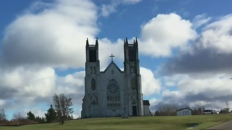 St. Alphonsus Church in Victoria Mines, N.S. is seen in this file image.
