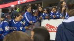 Members of India's national women's hockey team are participating in this year's Wickfest at Winsport Canada Olympic Park.