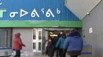 Customers enter Iqaluit's Northmart grocery store on Nov. 17, 2018. (Kent Driscoll/APTN National News)