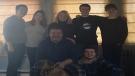 Randy Tieman and his family