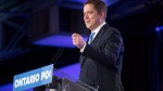 Federal Conservative Leader Andrew Scheer addresses the Ontario PC Convention in Toronto on Saturday, November 17, 2018. THE CANADIAN PRESS/Chris Young