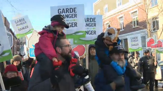 Thousands of farmers march through city urging public to support agriculture industry