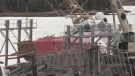 Police say they know it was an act of vandalism that caused a Coast Guard ship to slide from its cradle and back into the water. Now the unanswered question is why?