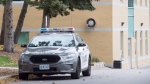 A police car is parked outside St. Michael's College School in Toronto on Thursday, November 15, 2018. (THE CANADIAN PRESS / Frank Gunn)