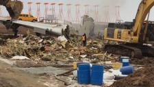 cargo plane dismantled in Halifax