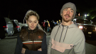 Leah Corbally and Lee Kirwan said they're very grateful to North Shore Rescue for helping them down the Dog Mountain Trail. Nov. 18, 2018.