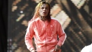 American rapper Tekashi 6ix9ine performed at the Weekend -festival in Helsinki, Finland on Friday evening August 17, 2018. LEHTIKUVA / RONI REKOMAA - FINLAND OUT. NO THIRD PARTY SALES.