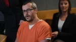 Christopher Watts sits in court for his sentencing hearing at the Weld County Courthouse on Monday, Nov. 19, 2018, in Greeley, Colo. (RJ Sangosti / The Denver Post via AP)