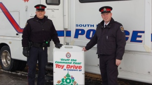South Simcoe Police kick off their 14th annual Toy Drive on November 19, 2018 (South Simcoe Police/Twitter)