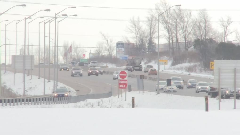 Highway 400 snow