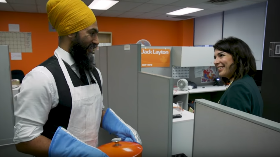 Jagmeet Singh in a video promoting a new NDP fundraising contest. (NDP / YouTube)