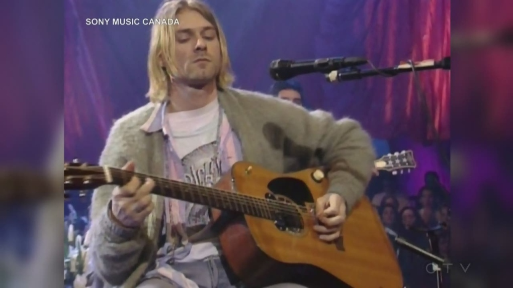 Kurt Cobain's cigarette burned sweater sells for US$334,000
