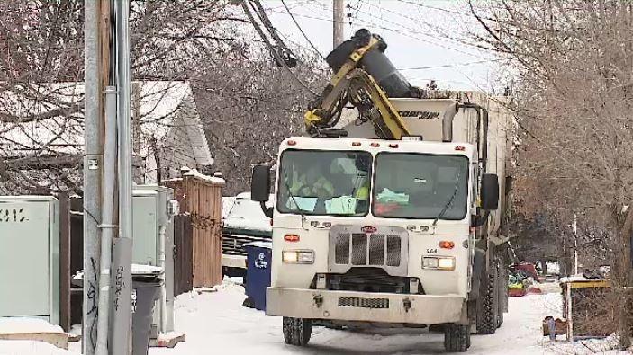 Garbage truck Saskatoon